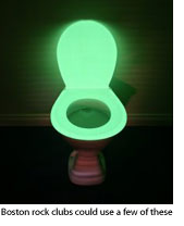 Glowing toilet seat
