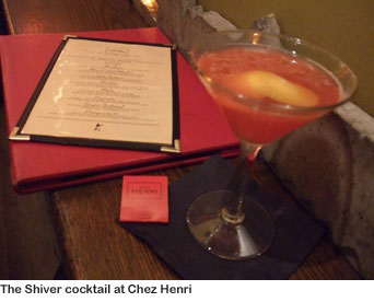 Shiver cocktail - Chez Henri