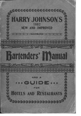 Harry Johnson Bartender's Manual