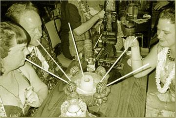 Communal tiki drink