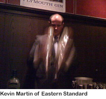 Kevin Martin, Eastern Standard-Plymouth Gin dinner