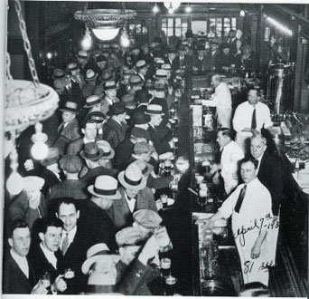 Repeal Day crowd at a bar