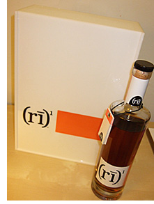 Rye One whiskey and promotional box