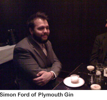 Simon Ford, Plymouth Gin-Eastern Standard dinner