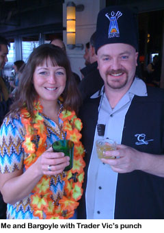 Eastern Standard tiki party - me and Bargoyle