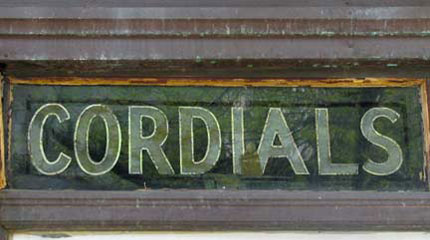 cordials-sign