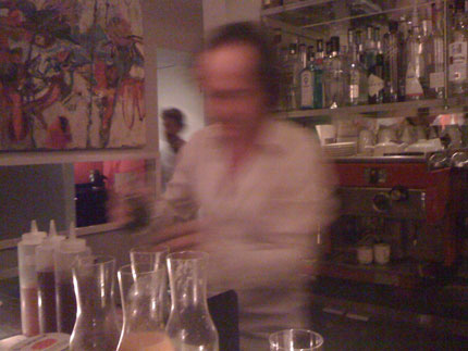 Jay Kuehner in perpetual motion at Sambar.